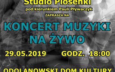 Zaproszenie na koncert z muzyką na żywo