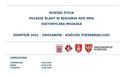 """Zapraszamy na wystawę – """"Ścieżki życia – Polskie ślady w regionie Ren-Men. Historyczna mozaika""""."""